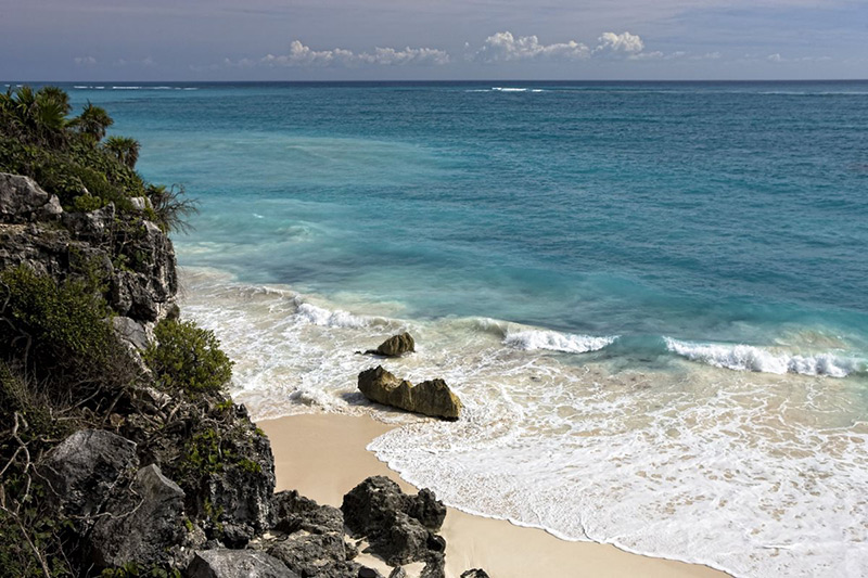 The beaches of Tulum, in Mexico's Riviera Maya.