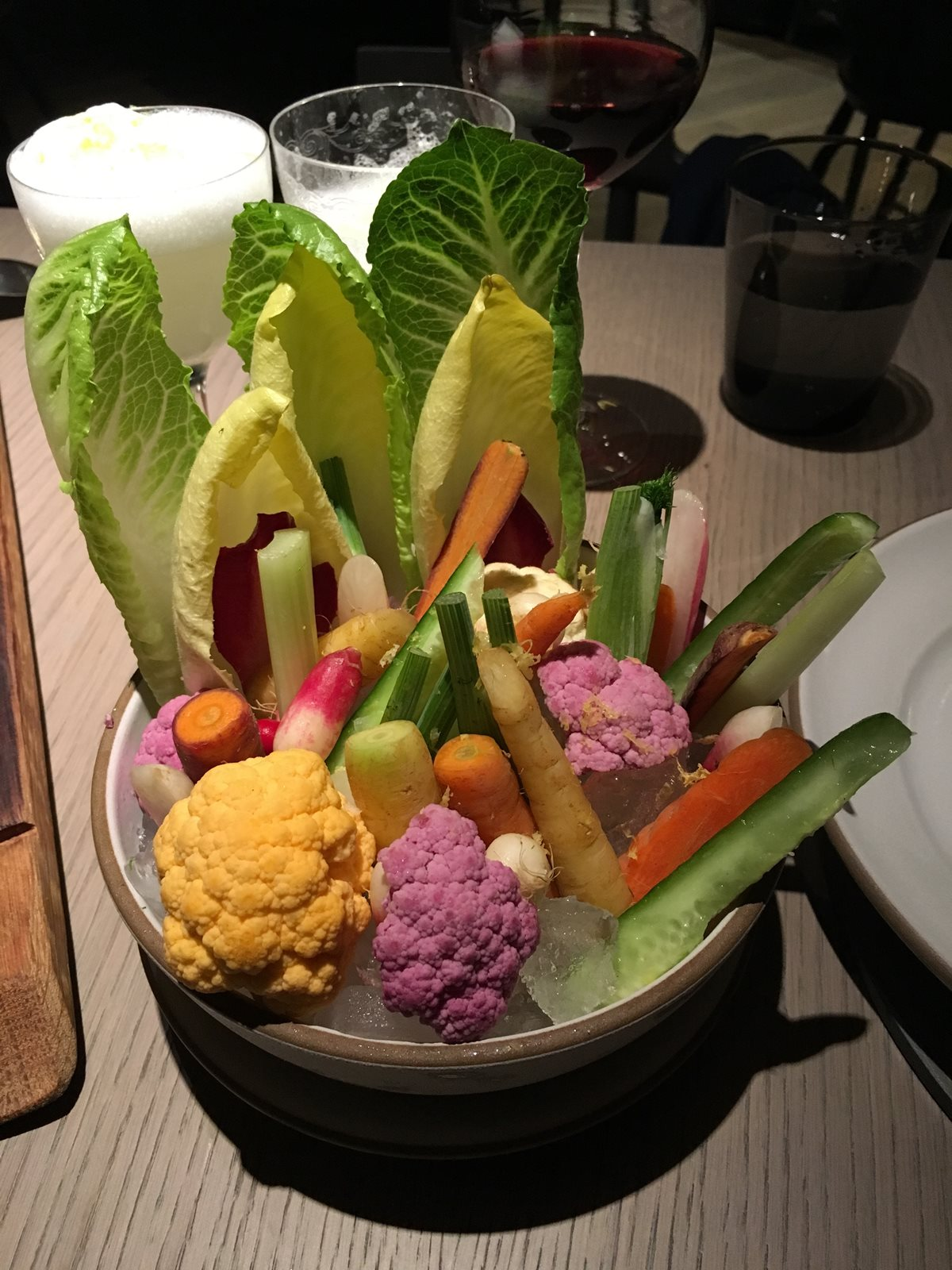 Colorful vegetables at Acacia House.