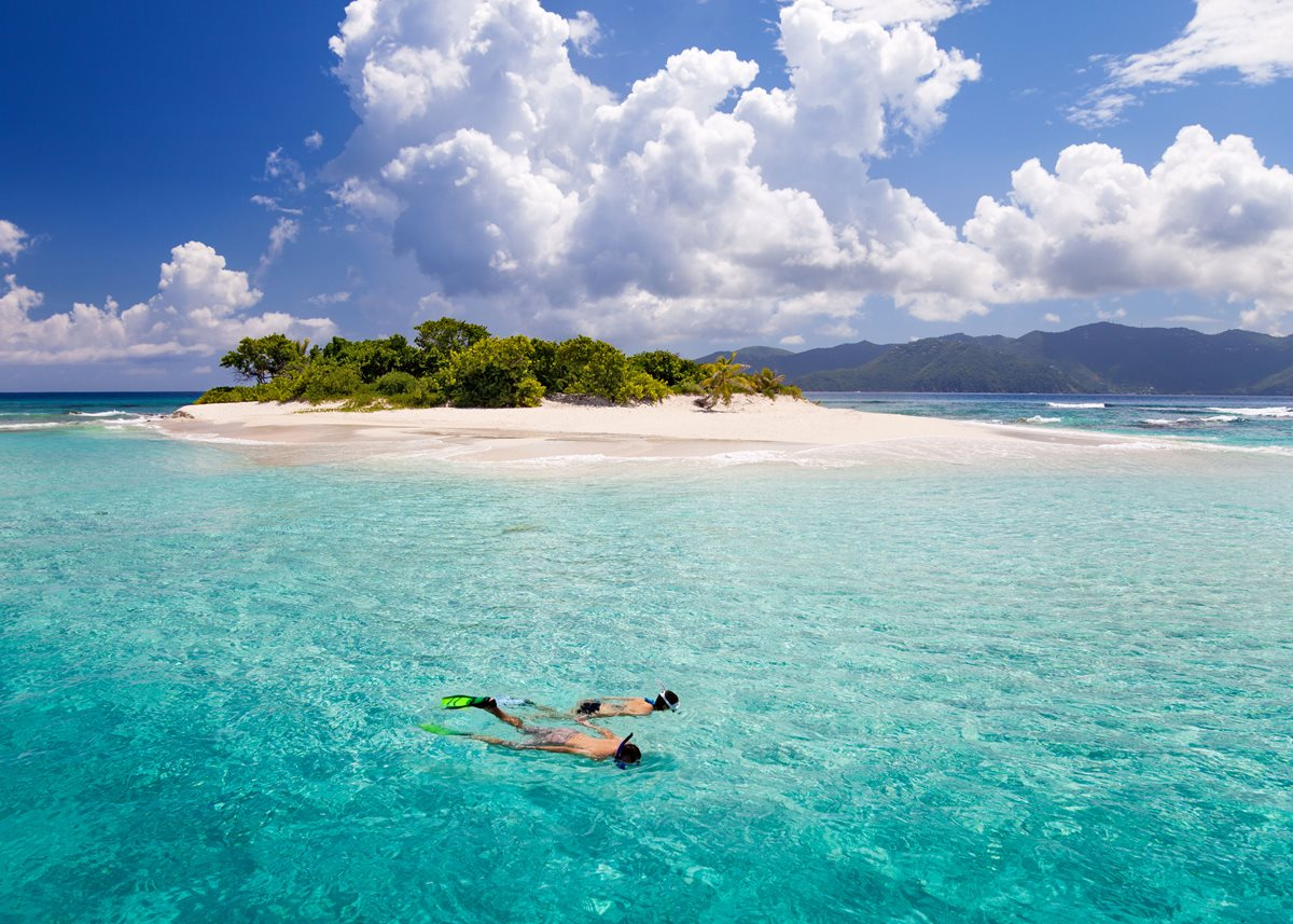 Dive in: A snorkeling excursion in the Caribbean.