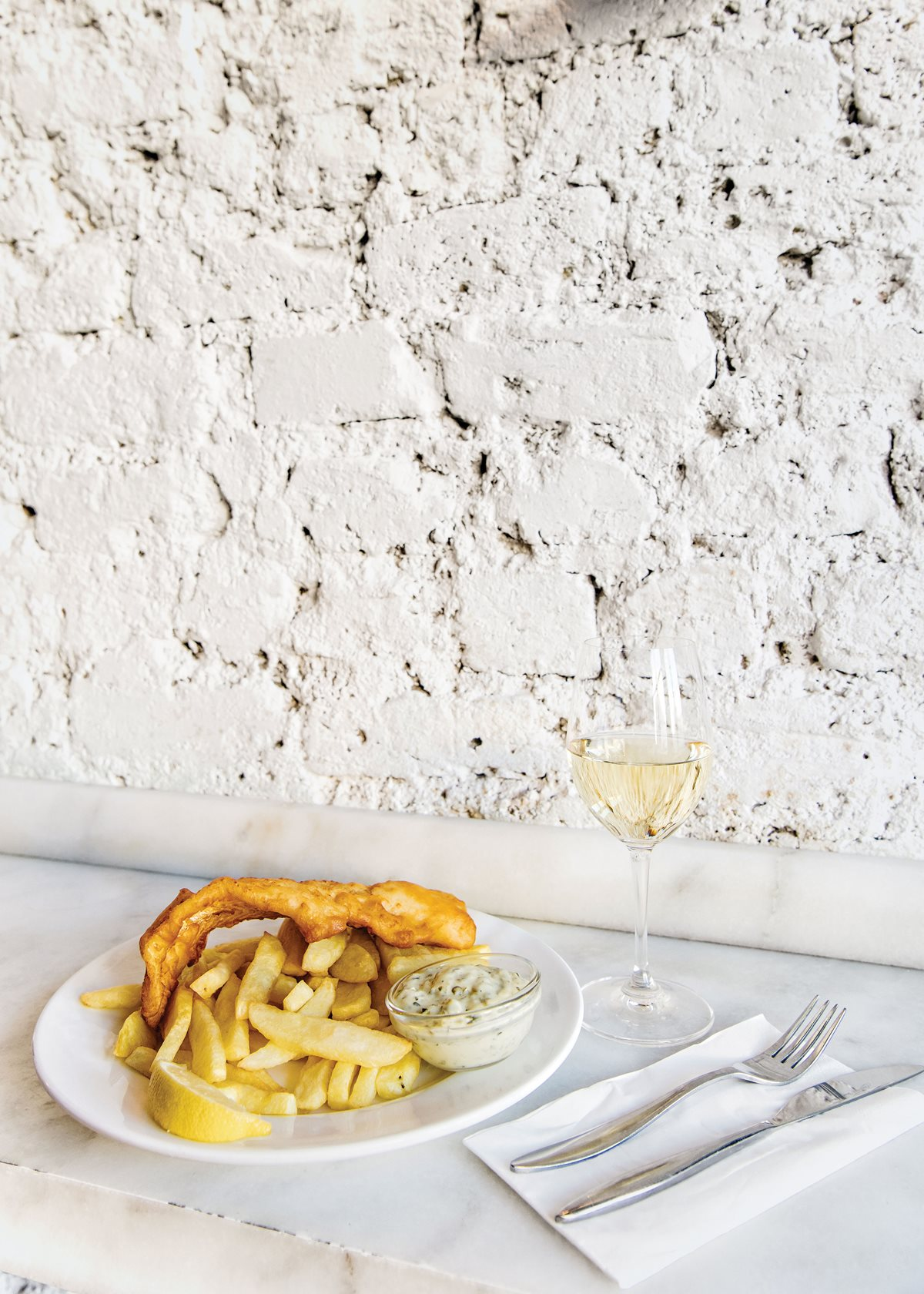Fish-and-chips at Fish Shop's Benburb Street location.