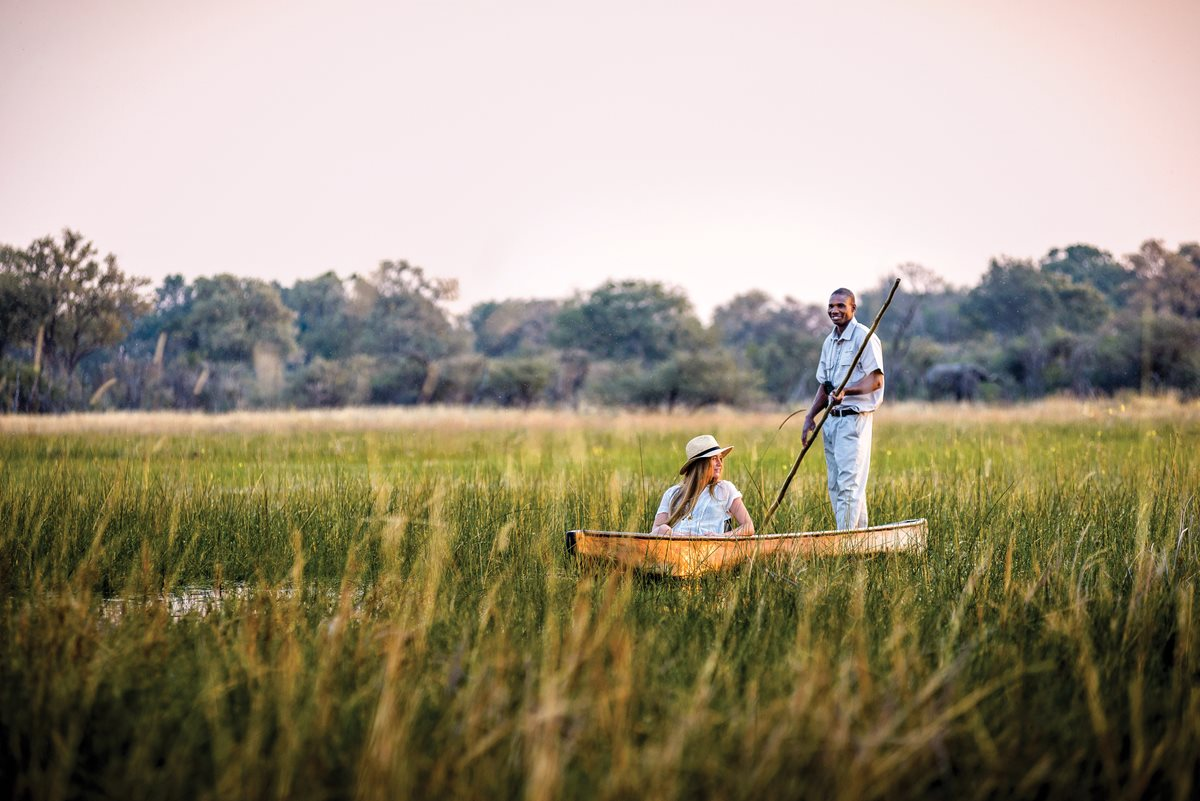 Okavango Delta delight: Exploring by mokoro.