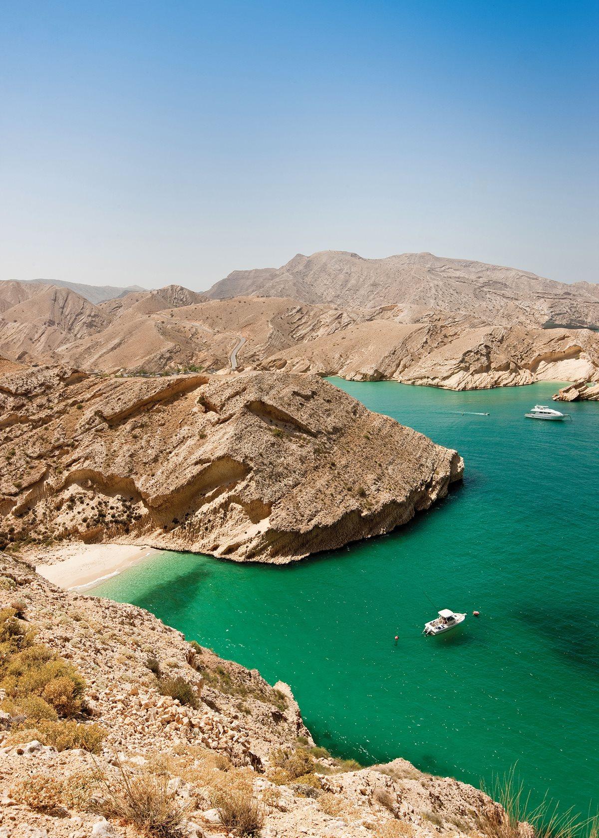 Oman's Musandam fjords.