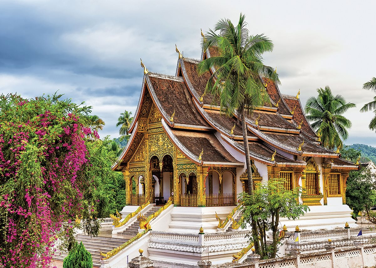 A golden temple in Luang Prabang.