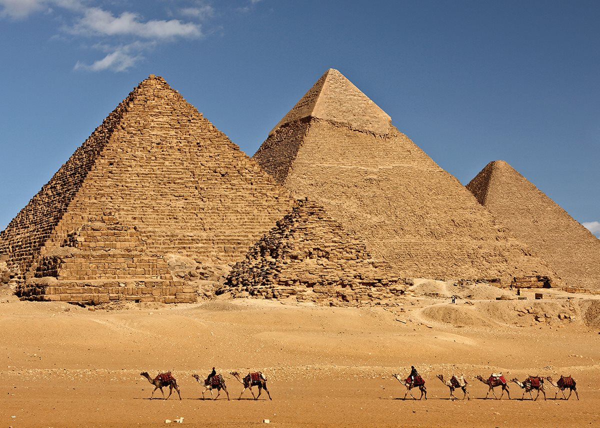 The great pyramids of Giza.