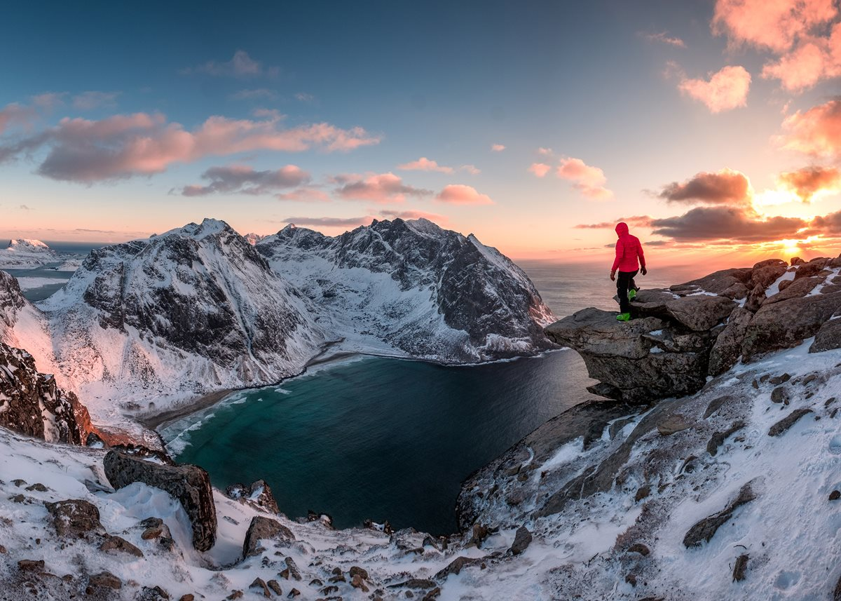 A wild view of Ryten Mountain in Norway.