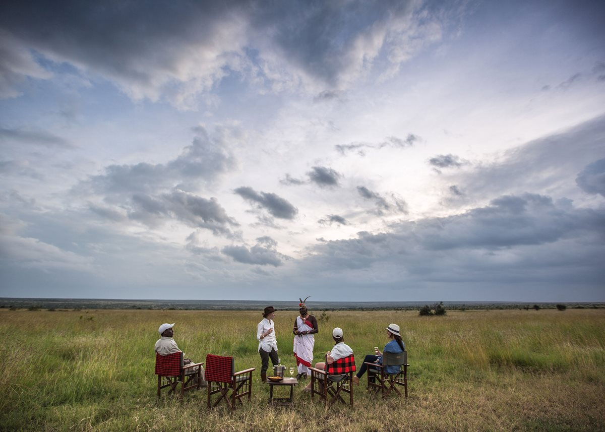 Taking a break for sundowners at Elewana Loisaba Tented Camp in Kenya.