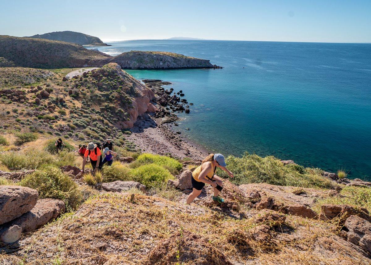 Exploring Isla San Francisco during UnCruise Adventures' island-hopping voyage in Mexico.