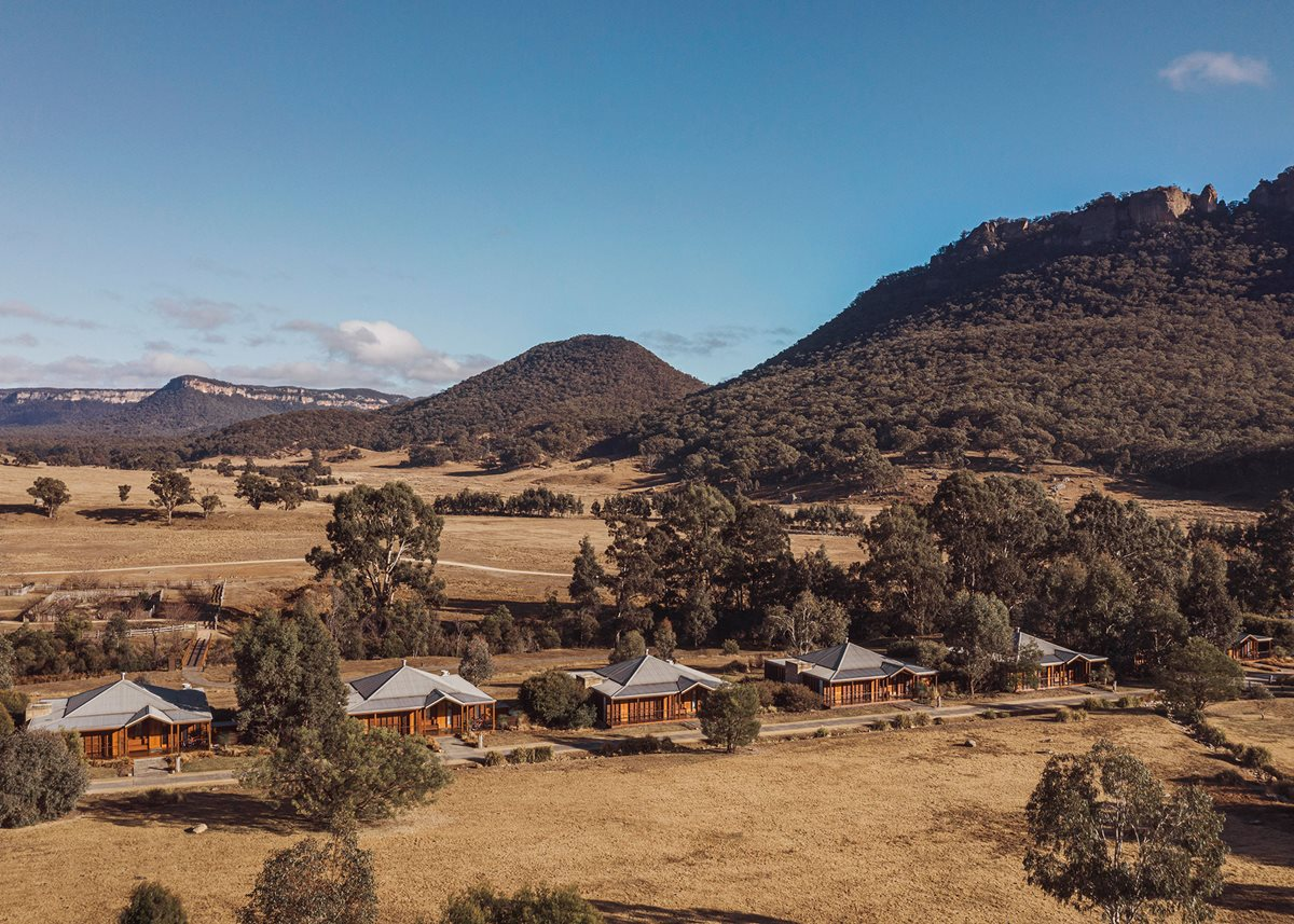 The Emirates One&Only resort amid the moutains of Wolgan Valley, Australia.