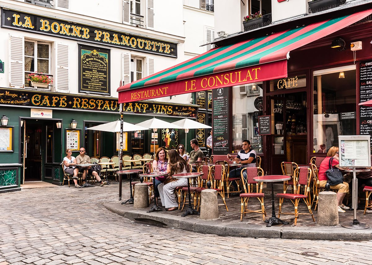 Meals in Paris are laid-back and leisurely.