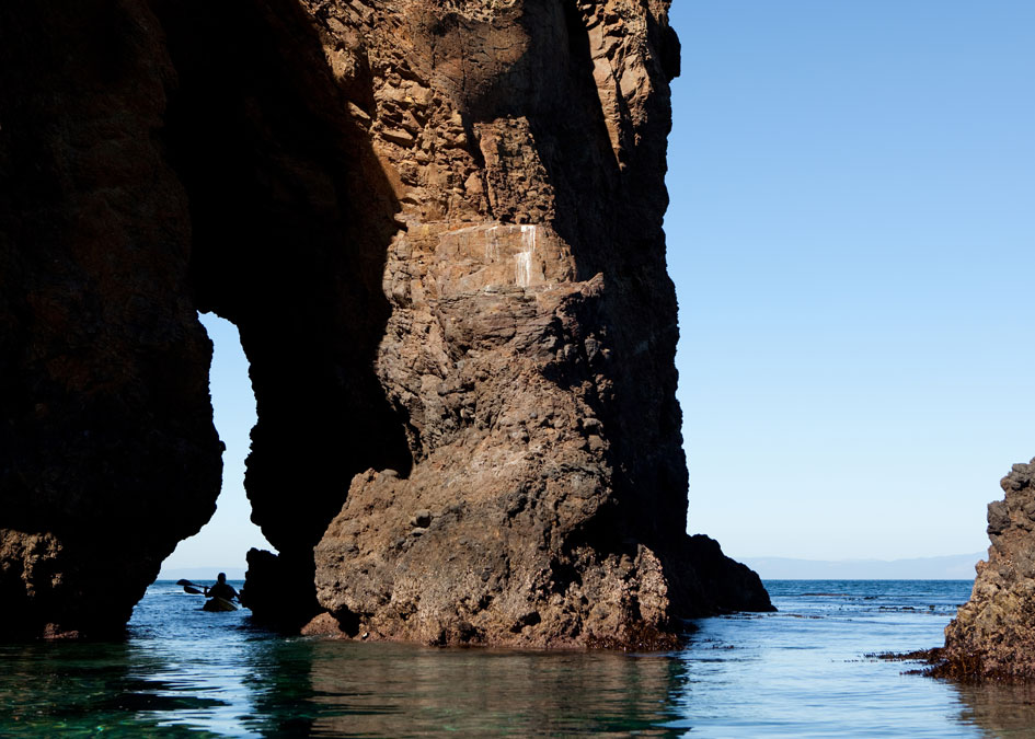 The Channel Islands National Park consists of five islands and mazes of sea caves.