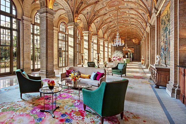 The Breakers' Italian Renaissance-inspired lobby.