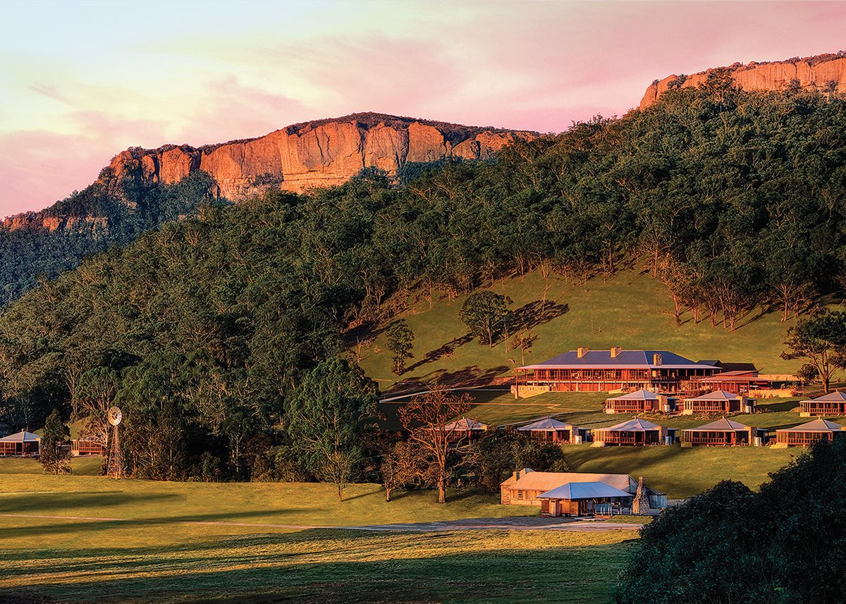 Australia's only carbon-neutral resort, One&Only Wolgan Valley.