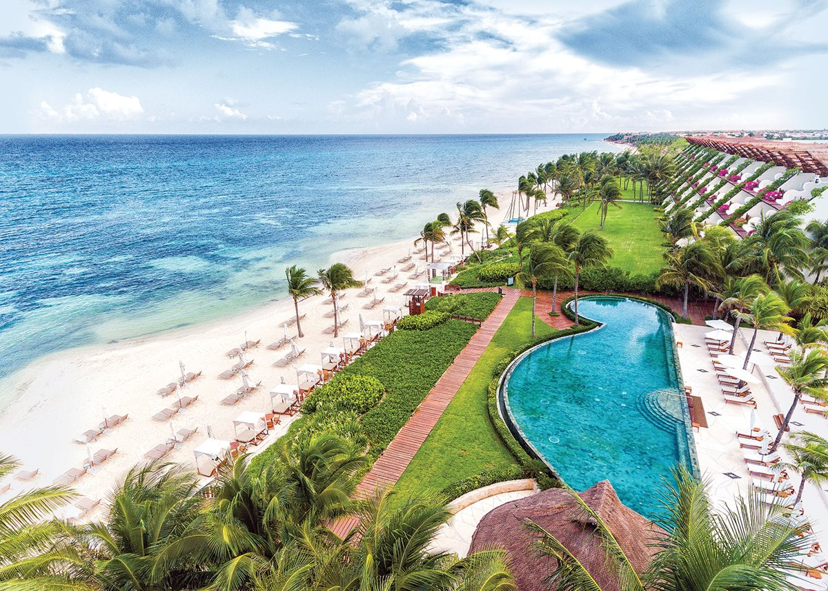 Sun and sand by day at Grand Velas Riviera Maya.